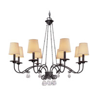 Troy Lighting La Rochelle 8 Light Chandelier in La Rochelle Bronze F2658