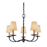 Troy Lighting Alexander 5 Light Chandelier in English Iron F2665