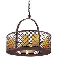 Troy Lighting Sienna 8 Light Pendant in Burnt Sienna F2683