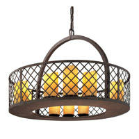 Troy Lighting Sienna 12 Light Pendant in Burnt Sienna F2684