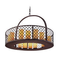 Troy Lighting Sienna 16 Light Pendant in Burnt Sienna F2685