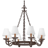 Lyon 8 Light 33 inch Burnt Sienna Chandelier Ceiling Light