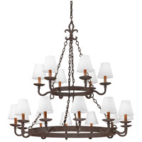Lyon 18 Light 48 inch Burnt Sienna Chandelier Ceiling Light