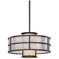 Troy Lighting Discus 1 Light Pendant in Graphite F2735