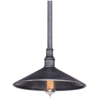 Troy Lighting Toledo 1 Light Outdoor Pendant in Old Silver F2774