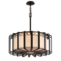Troy Lighting Drum 4 Light Pendant Dining in Bronze F2816BZ-I