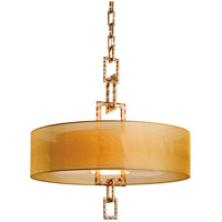 Link 4 Light 32 inch Bronze Leaf Pendant Ceiling Light