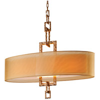 Link 4 Light 42 inch Bronze Leaf Pendant Island Ceiling Light