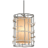 Adirondack 3 Light 13 inch Graphite And Silver Pendant Entry Ceiling Light