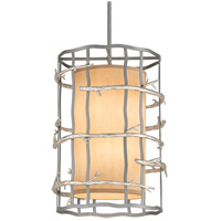 Troy Lighting F2884 Adirondack 6 Light 18 inch Graphite And Silver Pendant Entry Ceiling Light
