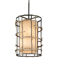 Troy Lighting F2885 Adirondack 6 Light 22 inch Graphite And Silver Pendant Entry Ceiling Light