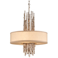 Adirondack 3 Light 20 inch Silver Leaf Finish Pendant Dining Ceiling Light in Incandescent