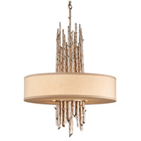 Troy Lighting Adirondack 4 Light Pendant Dining in Silver Leaf Finish F2895