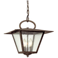 Potter 3 Light 14 inch Fired Iron Outdoor Hanging Lantern