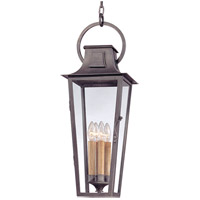 Parisian Square 4 Light 10 inch Aged Pewter Outdoor Hanging Lantern in Incandescent
