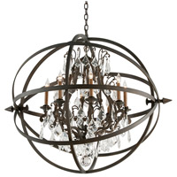 Troy Lighting F2998 Byron 8 Light 42 inch Vintage Bronze Pendant Ceiling Light