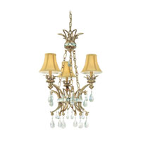 Troy Chloe 3Lt Chandelier Ceiling Mount Hanging In Riviera F3053RI