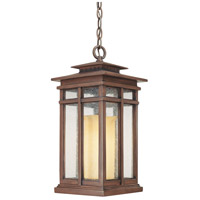 Troy Lighting Cottage Grove 1 Light Outdoor Hanging Lantern in Cottage Bronze F3086CB