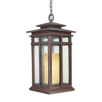 Troy Lighting Cottage Grove 1 Light Outdoor Hanging Lantern in Cottage Bronze F3087CB