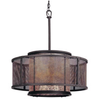 Troy Lighting Copper Mountain 6 Light Pendant Dining in Bronze F3105