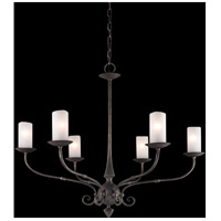 Troy Lighting Prescott 6 Light Chandelier in Aged Pewter F3116
