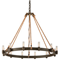 Troy Lighting F3126 Pike Place 12 Light 32 inch Shipyard Bronze Pendant Ceiling Light