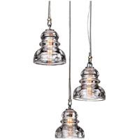 Troy Lighting Menlo Park 3 Light Pendant in Old Silver F3133