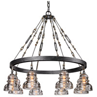 Troy Lighting Menlo Park 8 Light Pendant in Old Silver F3136