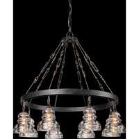 Troy Lighting F3136 Menlo Park 8 Light 33 inch Old Silver Pendant Ceiling Light