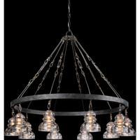 Troy Lighting F3137 Menlo Park 10 Light 43 inch Old Silver Pendant Ceiling Light