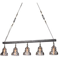 Menlo Park 5 Light 45 inch Old Silver Pendant Island Ceiling Light
