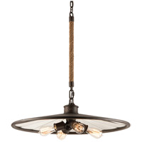 Troy Lighting Brooklyn 4 Light Pendant in Brooklyn Bronze F3146