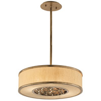 Troy Lighting F3155 Serengeti 2 Light 18 inch Bronze Leaf Pendant Ceiling Light in Incandescent photo thumbnail