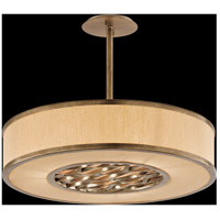 Troy Lighting F3156 Serengeti 3 Light 24 inch Bronze Leaf Pendant Ceiling Light in Incandescent photo thumbnail