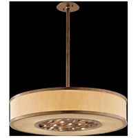 Troy Lighting Serengeti 4 Light Pendant in Bronze Leaf F3157
