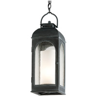 Derby 1 Light 8 inch Antique Iron Outdoor Hanging Lantern in Incandescent