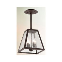 Troy Lighting F3437-C Amherst 4 Light 11 inch River Valley Rust with Coastal Finish Outdoor Hanging Lantern in Clear