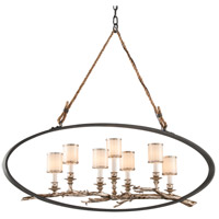 Troy Lighting Drift 7 Light Pendant in Bronze With Silver Leaf F3447