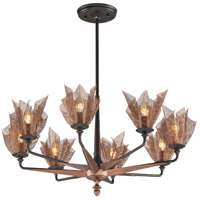Troy Lighting Copperfield 8 Light Chandelier in Burnished Copper F3455