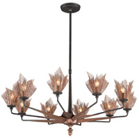 Troy Lighting Copperfield 10 Light Chandelier in Burnished Copper F3456