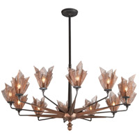 Troy Lighting Copperfield 12 Light Chandelier in Burnished Copper F3457