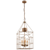 Troy Lighting Jasper 4 Light Pendant in Coastal Rust F3504