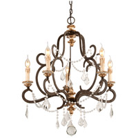 Bordeaux 5 Light 28 inch Parisian Bronze Chandelier Ceiling Light
