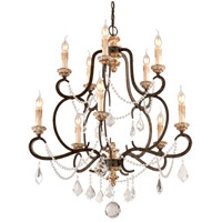 Troy Lighting Bordeaux 10 Light Chandelier in Parisian Bronze F3516
