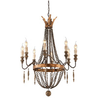 Delacroix 8 Light 25 inch French Bronze Chandelier Ceiling Light