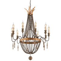 Delacroix 10 Light 30 inch French Bronze Chandelier Ceiling Light