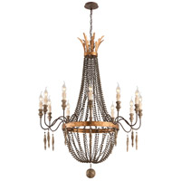 Delacroix 12 Light 36 inch French Bronze Chandelier Ceiling Light