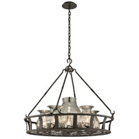 Chianti 6 Light 33 inch Chianti Bronze Chandelier Ceiling Light