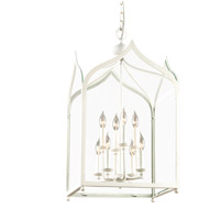 Troy Lighting York 8 Light Pendant in White F3618