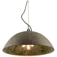 Relativity 5 Light 34 inch Salvage Zinc With Chalkboard Interior Pendant Ceiling Light
